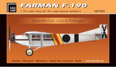 Farman F.190 'Spanish Civil War & Portugal' full resin kit