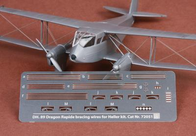 DH-89 Dragon Rapide rigging wire set for Heller kit