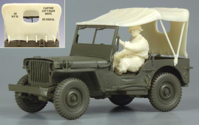 Willys Jeep Tarp Set & U.S. driver