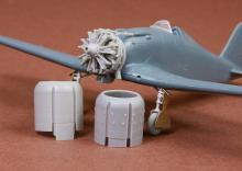 Fiat G.50/bis engine & cowling set for Fly kit